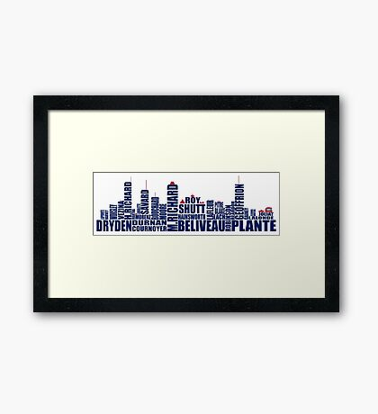 Montreal Skyline - Canadiens Greats Framed Print