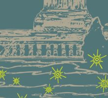 Capitol At Dusk in Slate Sticker