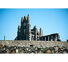abbey ruins and graves Photographic Print