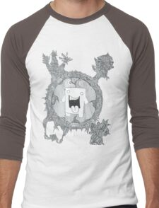 trippy domo  Men's Baseball ¾ T-Shirt