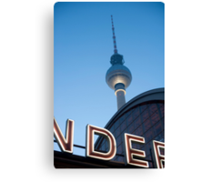 berlin tv tower Canvas Print