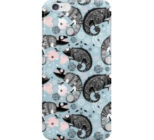 graphic ornamental chameleon iPhone Case/Skin