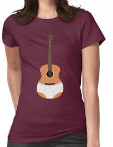 Underwear Guitar Womens Fitted T-Shirt