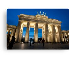Brandenburg gate night Canvas Print