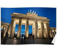 Brandenburg gate night Poster