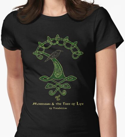 Morrigan & the Tree of Life Womens Fitted T-Shirt