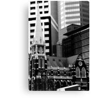 Albert St Uniting Church (B&W) Canvas Print