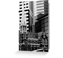 Albert St Uniting Church (B&W) Greeting Card