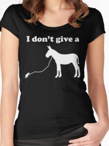I don't give a rat's ass Women's Fitted Scoop T-Shirt