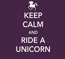 Keep Calm and Ride a Unicorn Womens Fitted T-Shirt