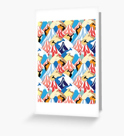 color pattern of the mountains Greeting Card