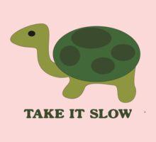 Turtle. Take it slow Kids Tee