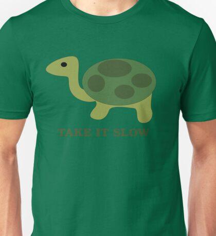 Turtle. Take it slow Unisex T-Shirt