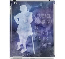 Tolkien Quote - Courage Is Found In Unlikely Places iPad Case/Skin