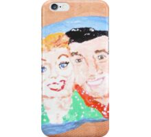 Rock Painting, I Love Lucy, Lucy And Desi iPhone Case/Skin