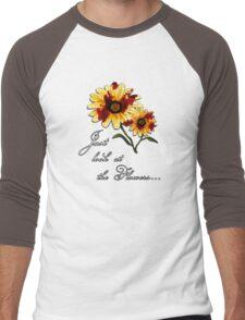 Look at the Flowers Men's Baseball ¾ T-Shirt