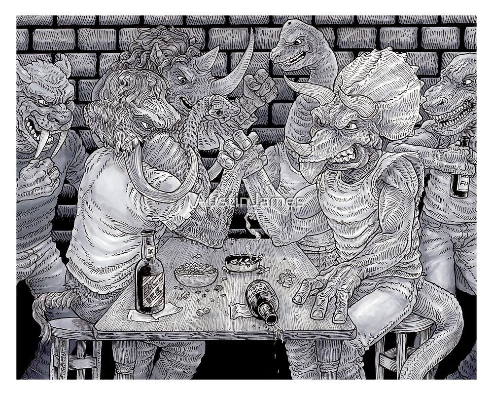Dinowrassle by AustinJames