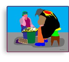 Chess - a great escape Canvas Print
