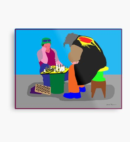 Chess - a great escape Metal Print