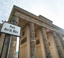 platz des 18 marz sign by photoeverywhere