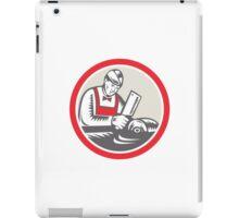 Butcher Woodcut Circle Retro iPad Case/Skin