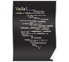 V For Vendetta - You Can Call Me V Poster