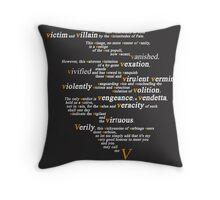 V For Vendetta - You Can Call Me V Throw Pillow