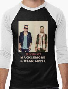 An Evening With Macklemore & Ryan Lewis Down Town AM3 Men's Baseball ¾ T-Shirt