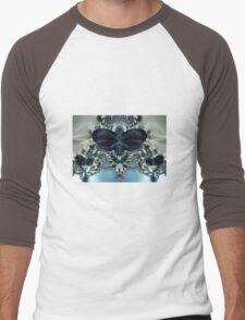 Blue Butterfly Lace II Men's Baseball ¾ T-Shirt