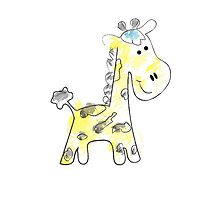colorful sketch of giraffe on white background by elgreko