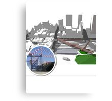 Fed Square East - Transport Laboratory Canvas Print