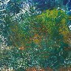 Abstract Landscape Gelli Print by ShellsintheBush