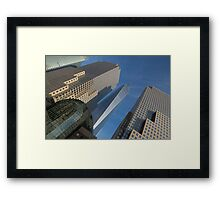 Manhattan Geometry Framed Print