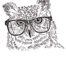 Hipster Owl by SpaceDonutInc