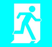 Emergency Exit Sign, with the Running Man by LeeWilson