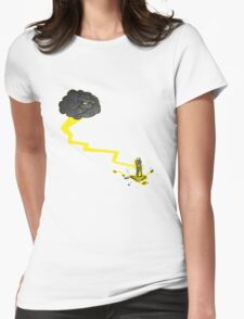 Grumpy Storm Cloud Valentine  Womens Fitted T-Shirt
