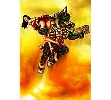 Rocket Powered Orc Raider Photographic Print