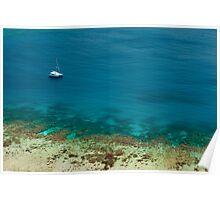 Blue ocean off Yasawas Island, Fiji Poster
