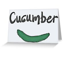cucumber Greeting Card