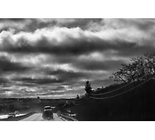 Morning Road With Dramatic Sky  Photographic Print