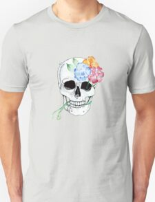 flowers entwining with skull  T-Shirt