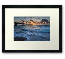 Rough Seas at Dawn Framed Print
