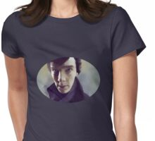 Sherlock Holmes portrait Womens Fitted T-Shirt