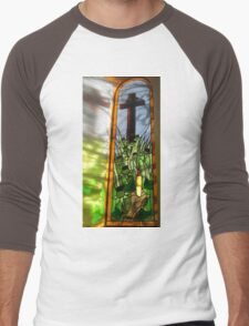 Stained Glass Window Reflection Men's Baseball ¾ T-Shirt
