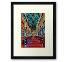 Fragment  interior of the cathedral Framed Print