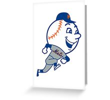 Mr. Met Logo - New York Mets Greeting Card