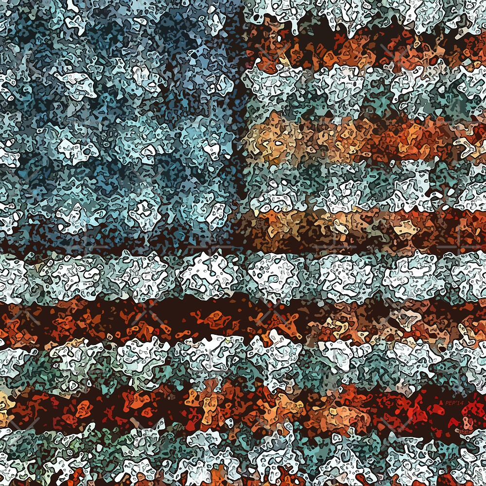Artistic American Flag by morningdance