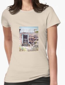 As Time Goes by in Coleraine Watercolour Painting Womens Fitted T-Shirt