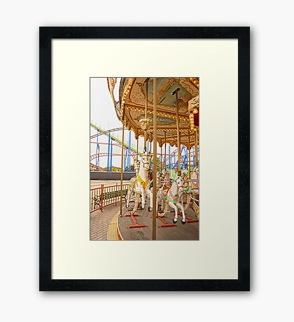 Old Town Merry Go Round Framed Print