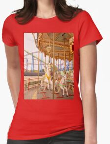 Old Town Merry Go Round Womens Fitted T-Shirt
